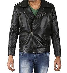 Shagoon Emporium Men's Leather Riding Jacket(sh0067_Black_Medium)