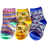 C2BB 3 pairs of girls anti slip baby socks children from 1 to 3 years old item 13