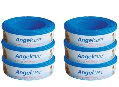 6 X Angelcare Nappy Disposal System Refill Cassettes Wrappers Bags Sacks Pack Best Quality Fast Shipping Ship Worldwide front-285686