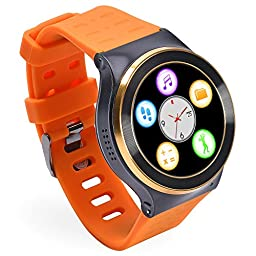 GearBest ZGPAX S99 Bluetooth 3G TPU Band Smartwatch with Pedometer Heart Rate for Android Support Sim-card (Orange)