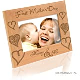 Kate Posh - First Mother's Day Wooden Picture Frame (4x6 - Horizontal)