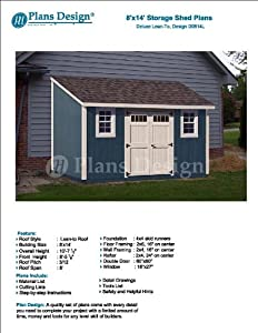 16' Slant Roof Storage Shed