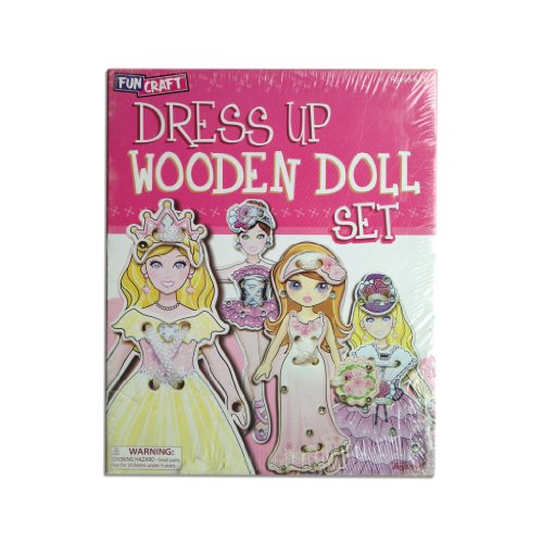 Dress Up Wooden Doll Set - Toysmtih