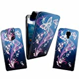 MobileExtraLtd® For Samsung GALAXY S4 i9500 Ultra Butterfly Style 7 Printed Pouch PU Leather Magnetic Flip Case Cover + Free Stylus