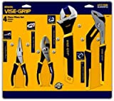 Irwin Industrial Tools 2078705 Long Nose, Slip Joint, Adjustable Wrench and Groove Joint ProPliers Set, 4-Piece