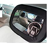 Baby Mirror for Rear Facing Car Seats From Giggling Monkey. Great Safety Features, Large, Perfect Crystal Clear Image, Heavy Duty Straps - Won't Break or Suffer From Sun Damage, 100% Life Time Manufacturer Guarantee, 30 Day Money Back Guarantee & VIP Club with Massive Sale Price of only $13. Excellent for Baby Showers, Birthday Gifts or a Selfie Present