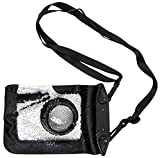 DURAGADGET Compact Camera Case in Black for Nikon 1J1, Nikon 1J2, Nikon 1J3, Nikon 1S1, Nikon 1S2, Nikon 1J4 & Nikon 1V3 - Premium Quality, Water-Resistant Pouch with Zoom Lens Compartment, Cross-Body Strap & Air-Locked Seals