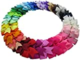 Lazos de pelo con pinza para niñas, 40 colores,40 lazos en lote