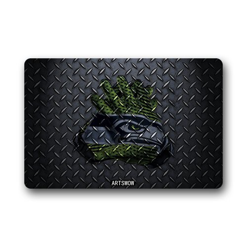 Seahawks welcome mats seattle seahawks welcome mat for Decorative door mats indoor