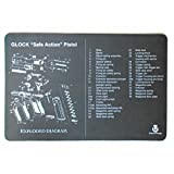 UsefulThingy Glock Cleaning Mat - Printed Diagram