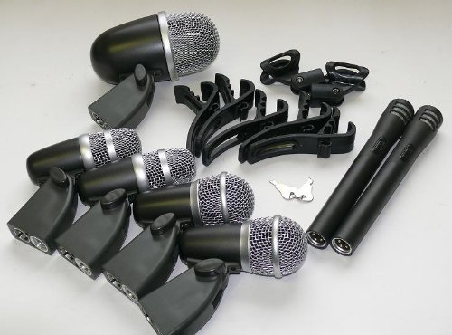 Dsr Audio Equipment 7 Piece Studio Drum Microphone Kit