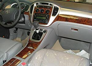 toyota highlander interior burl wood dash trim kit set 2003 2004 2005 2006 2007. Black Bedroom Furniture Sets. Home Design Ideas