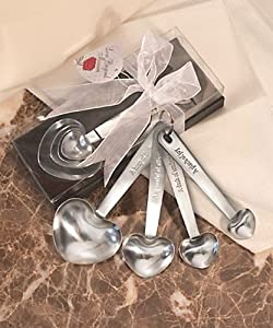 Measuring Spoons - Heart Shaped Measuring Spoons (1 Set)