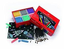 Faber Castell Metallic Gel Sticks School Pack Premium Art Supplies For Kids (120 Count)