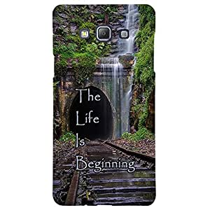 The Life Is Beginning - Mobile Back Case Cover For Samsung Galaxy A5 (2015)