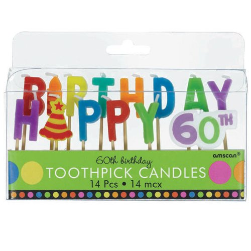 60th Birthday Toothpick Candles