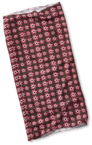 Lassig Twister Sweat Wicking Multi Use Scarf Hairband and Headband, Flowers Pink Choco