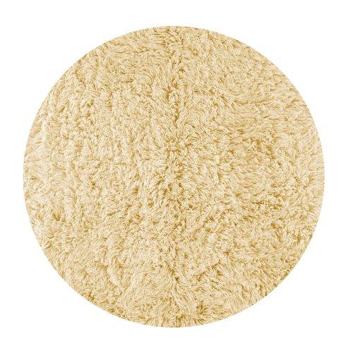 Flokati Area Rug 5' Round Natural White Wool Heavy Soft Shag Carpet
