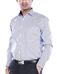 Vishal Men Dark Blue Formal Shirt