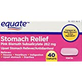 Equate Stomach Relief Caplets 40ct Compare to Pepto-Bismol
