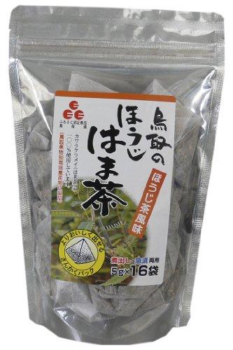ノンカフェインで鳥取産100%!便利な三角パック 鳥取のほうじはま茶 5g×16p×8袋
