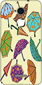 Timpax Slip-resistant, stain-resistant and tear-resistant Hard Back Case Cover Printed Design : Colourful umbrellas.Exactly Design For : Coolpad Note 3