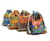 mocotree お守り袋 かわいいラッピング袋 ジュエリー巾着 4枚セット  ポプリ 匂い袋など