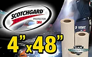 3M Scotchgard Clear Bra Paint Protection Bulk Film Roll 4-by-48-inches