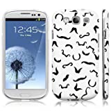 Samsung Galaxy S3 i9300 &#39;I Moustache You Something&#39; Image Hard Back Cover / Case / Shell / Shield - Black / White By Covert (Designed Exclusively By Creative 11)by Covert