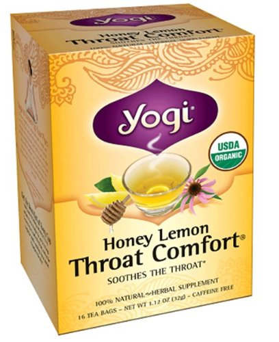 Yogi Tea - Throat Comfort Honey Lemon, 16 Bag