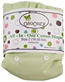 OsoCozy - Indian Cotton - Unbleached Prefold Cloth Diapers (Infant 4x8x4)