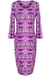 G2 Chic Women's Two Tone Printed Midi Dress