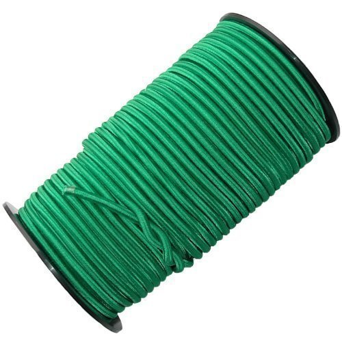 QVS Shop 8mm X 10M Green Elastic Bungee Shock Cord/Rope Tie Down