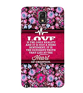 Heart Of Creation 3D Hard Polycarbonate Designer Back Case Cover for Samsung Galaxy Note 3 N9000 :: Samsung Galaxy Note 3 N9002 :: Samsung Galaxy Note 3 N9005 LTE