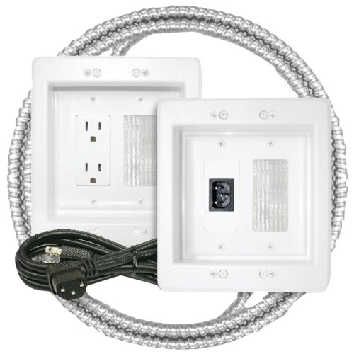 Midlite 22APJW-7R-MC Power Jumper HDTV Power Relocation Kit with Pre-Wired Metal Clad Cable