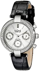 Burgi Women's BUR129SS Analog Display Swiss Quartz Black Watch