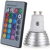 Generic Gu10 3w 16 Color Change RGB LED Bulb Party Light 85v-265v + Ir Remote Control