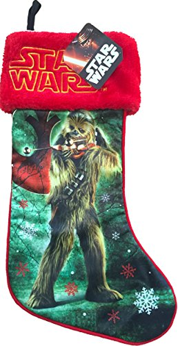 Star Wars Christmas Decor Stocking Featuring Star Wars Character Stockings Darth Vader, R2d2 , Chewbacca , Yoda (Chewbacca)