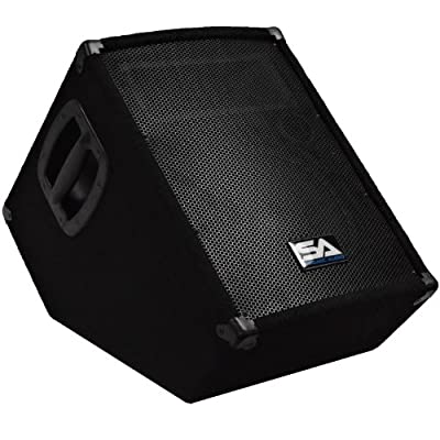 Seismic Audio SA-10MT-PW Powered 2-Way 10-Inch Floor/Stage Monitor Wedge Style with Titanium Horn 250-Watts RMS by Seismic Audio Speakers, Inc.