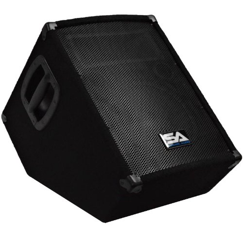 "Seismic Audio - Sa-10Mt-Pw - Powered 2-Way 10"" Floor / Stage Monitor Wedge Style With Titanium Horn - 250 Watts Rms - Pa/Dj Stage, Studio, Live Sound Active 10 Inch Monitor"