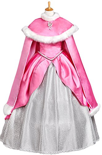 Halloween 2017 Disney Costumes Plus Size & Standard Women's Costume Characters - Women's Costume CharactersHalloween Deluxe Adult Women's Ariel Princess Costume Dress Custom Made pink dress