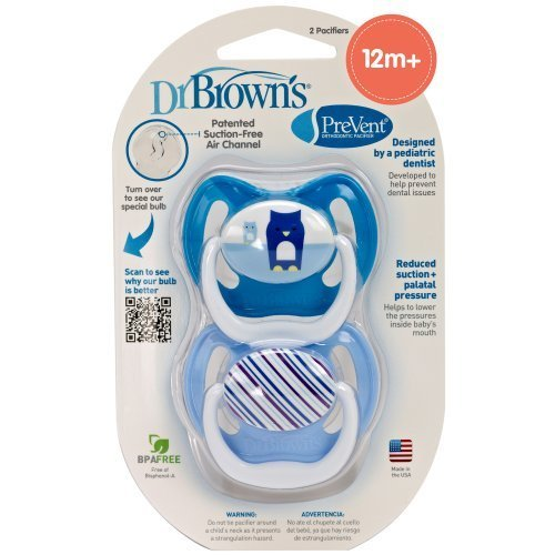 Dr. Brown'S Prevent Design Pacifier, Boys, Stage 3, 12+ Months By Dr. Brown'S