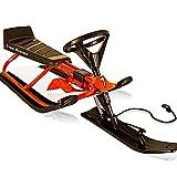 Luge à volant biplace bob rouge pour vacances et sports d'hiver bob luge descente...
