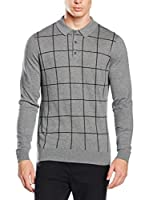 Ben Sherman Jersey The Window Pane Intarsia Ls Po (Gris)