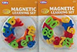 Set Of 2 Magnetic Letters and Numbers Learning Magnet Toddlers Toy