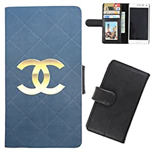 DooDa - For Karbonn A2+ PU Leather Designer Fashionable Fancy Flip Case Cover Pouch With Card, ID & Cash Slots And Smooth Inner Velvet With Strong Magnetic Lock