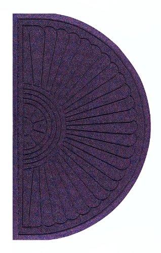 Andersen 272 Purple Polypropylene Waterhog Grand Classic Mat, Half Oval, 1.8' Length X 3' Width, For Indoor/Outdoor front-482025