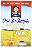 Quaker Oatso Simple Porridge Family Pack with Golden Syrup 16 x 36 g (Pack of 10, Total 160 Sachets)