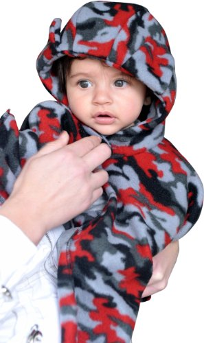 Original Fleece Wrapeaze (Xs) Infant In Red/Black Camo front-147637