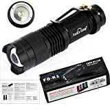 UltraFire 7w 300lm Mini Cree Led Flashlight Torch Adjustable Focus Zoom Light Lamp